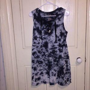 """Arizona Jean Co. """"tie dye"""" tank top shirt dress"""
